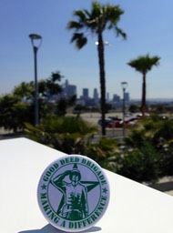 Good Deed Brigade Scenic View - Palm Lined Streets -Los Angeles, California