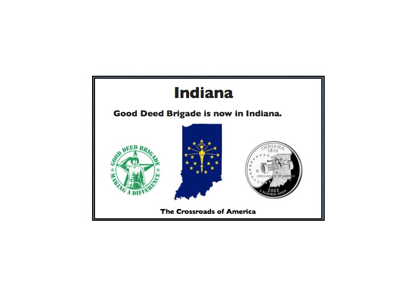 Good Deed Brigade State Postcard - Indiana