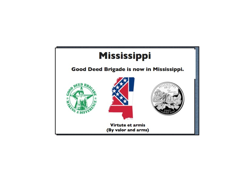 Good Deed Brigade State Postcard - Mississippi