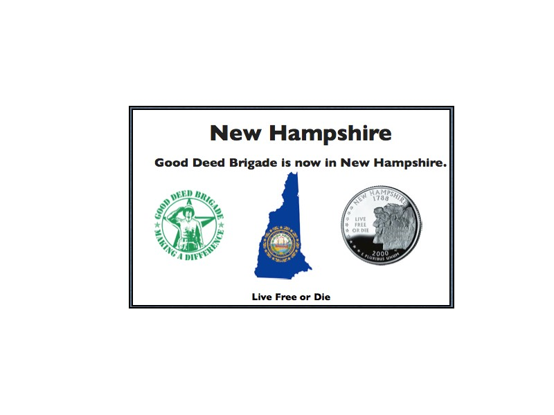 Good Deed Brigade State Postcard - New Hampshire