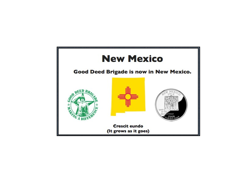 Good Deed Brigade State Postcard - New Mexico