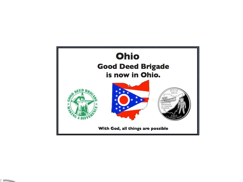Good Deed Brigade State Postcard - Ohio