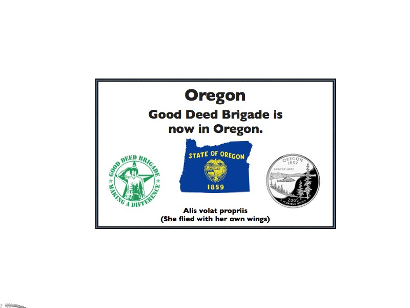 Good Deed Brigade State Postcard - Oregon