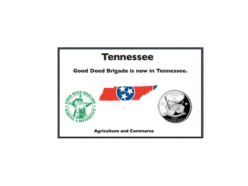 Good Deed Brigade State Postcard - Tennessee