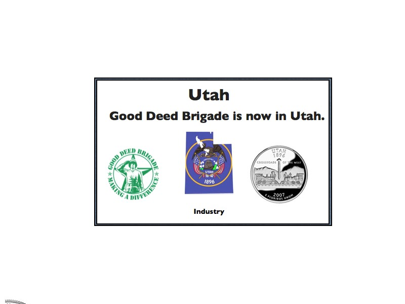 Good Deed Brigade State Postcard - Utah